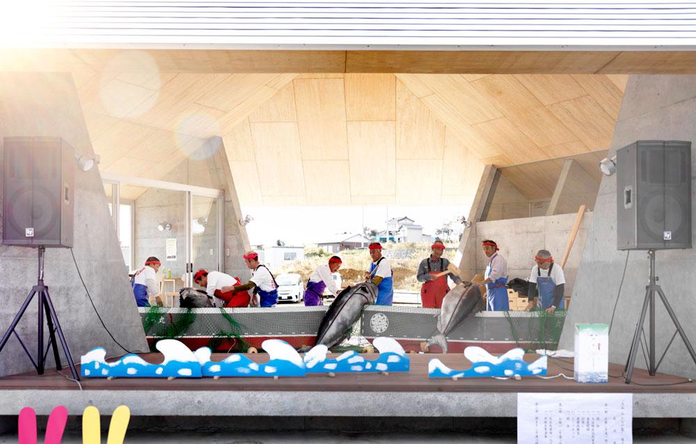 טקס חנוכתו של ''בית לכל'' ב-Kesennumaak. אדריכלים: Yang Zhao, Kazuyo Sejima. (צילום: photos by Jonathan Leijonhufvud)