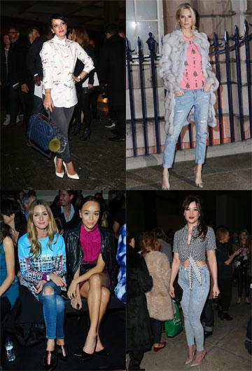 יפות בג'ינס. לילי אלן, פופי דלווין, דייזי לואו ואוליביה פלרמו (צילום: gettyimages)