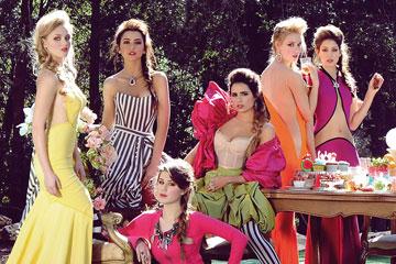 המועמדות בהפקת אופנה בשמלות של אפרת קליג (צילום: איתן טל)