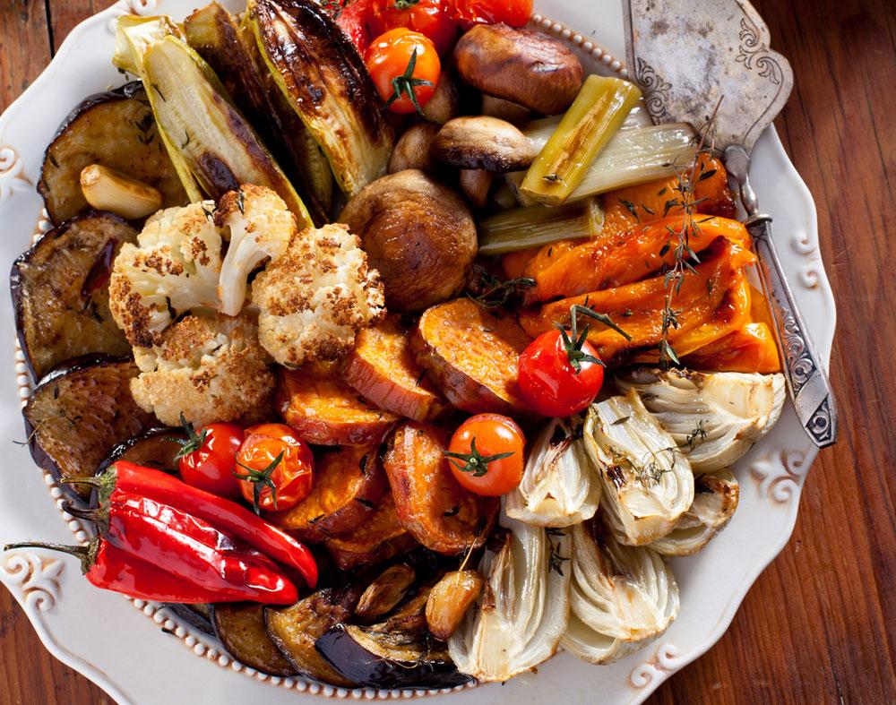 ירקות צלויים בתימין (צילום: בועז לביא)