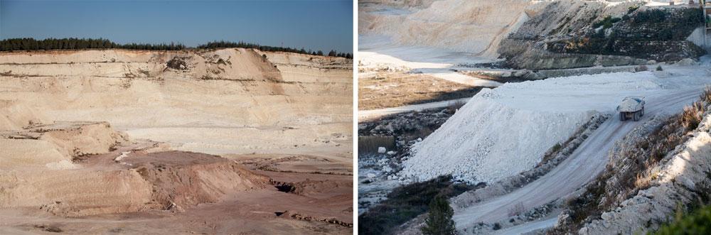 יורדים למעמקי המחצבה. לפני כמה שנים התגלתה כאן מערה בת מיליוני שנה (צילום: דור נבו)