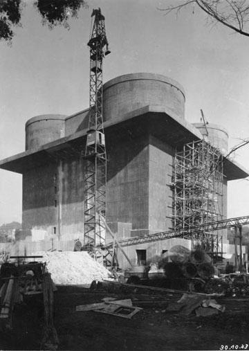 אחד משלושה בונקרים בהמבורג (צילום: German Federal Archives ,Gerlach, cc)