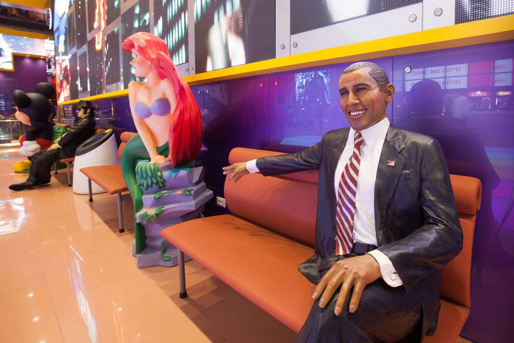 נשיא ארה''ב הגיע לאירוע ההשקה (צילום: דור נבו)