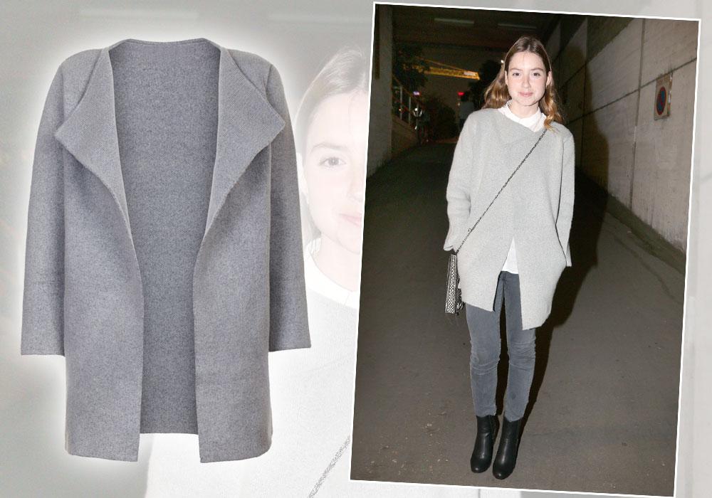 אליאנה תדהר במעיל אפור סופר–שימושי של legaloutfit (מחיר:  549שקל) (צילום: אמיר יהל, רפי דלויה)