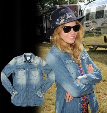 סיינה מילר קולית בחולצת ג'ינס של ריפליי (449.90 שקל) (צילום: splashnews/asap creative, אבי ולדמן)