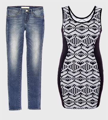 שמלה: AdikaStyle, מחיר:99 שקל; ג'ינס מחטב: רנגלר, מחיר: 499.90 שקל