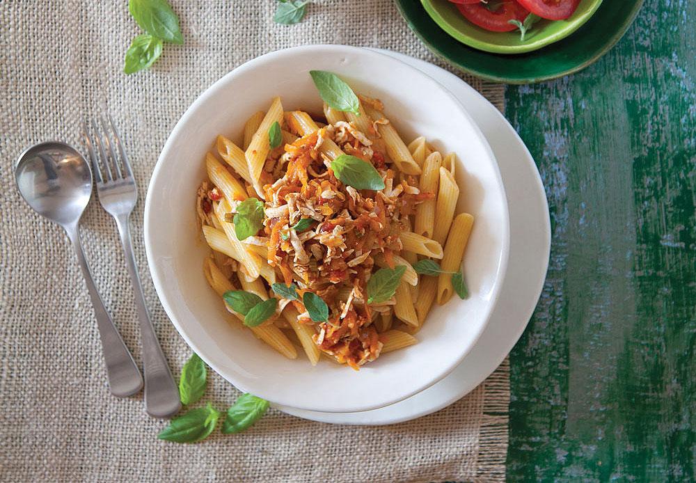 בולונז צמחוני עם פסטה (צילום: יוסי סליס)