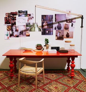 אחת מהפינות שעמדו לרשות מבקרי היריד בלאונג' (באדיבות Stockholm furniture & light fair)