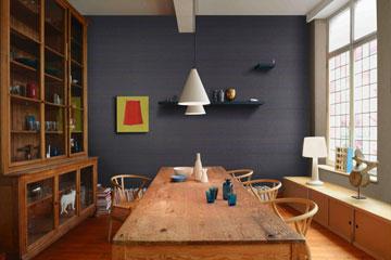 קולקציה של טפטים בסגנון יפני, שזורים בחוטי נייר ועץ. ''גולדשטיין'' (צילום: אומקסקו סטודיו)