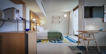 חדר במלון ''אלמא''. פחות מ-100 חדרים (צילום: איתי סיקולסקי )