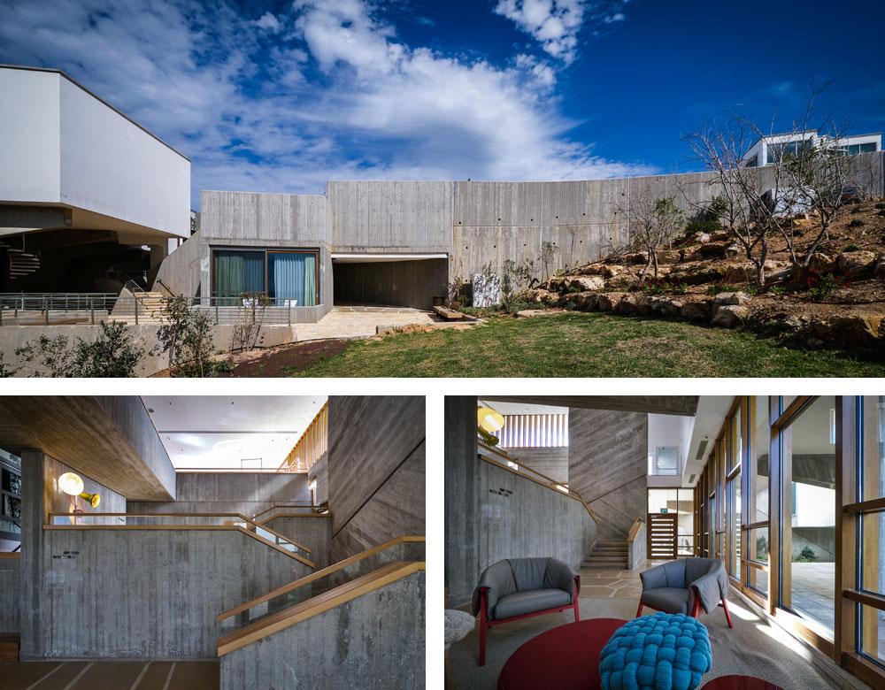 מבטחים-אלמא הוא אחד הנציגים הבולטים של הזרם הברוטליסטי באדריכלות, והבטון החשוף מככב בו. האדריכלים האחראים על השימור, אמנון רכטר ורני זיס, מבליטים את ייחודו של הבטון מבלי לצעוק: ''אנחנו כאן'' (צילום: איתי סיקולסקי )