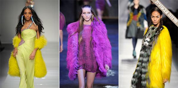 מימין: תצוגות האופנה של פנדי, ורסוס ובלומרין (צילום: gettyimages)