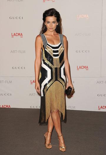 השחקנית קמילה בל בשמלה מקולקציית הקיץ של גוצ'י (צילום: gettyimages)