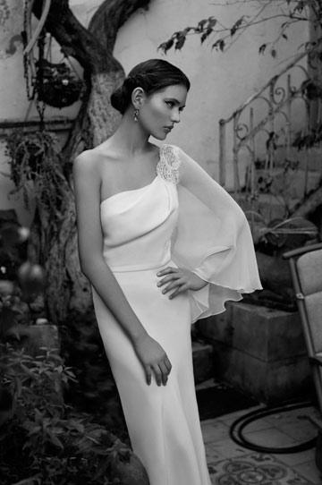 שמלת כלה של גולדי סרוסי. סירבה להתייחס לפרשה (צילום: גיא כושי ויריב פיין )