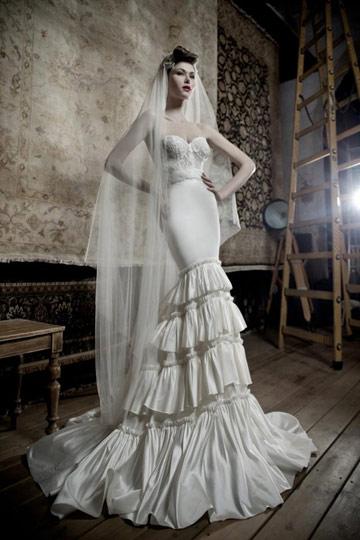 שמלת כלה של ליהי הוד (צילום: אלון שפרנסקי)