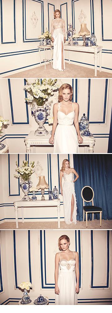 שמלות כלה של אלון ליבנה. ''כתב היד שלי הוא סימן ההיכר בקולקציה'' (צילום: דודי חסון)
