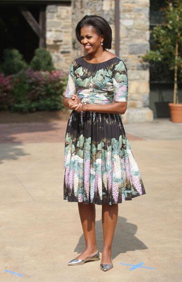מישל אובמה. לגרפלד ''מעריץ גדול'' שלה (צילום: gettyimages)