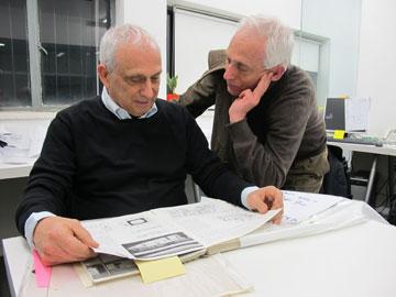 עופר ואמיר קולקר. בין הוותיקים שמשתתפים בפרויקט (צילום: מיכאל יעקובסון)