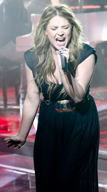 מקליטה אלבום. קטלין רייטר ב-The Voice (צילום: טל גבעוני)