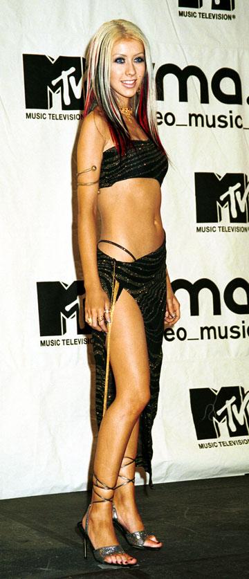 אגילרה בשנת 2000. אז היא היתה המתחרה (הרזה יותר) של בריטני ספירס (צילום: gettyimages)