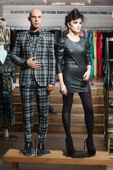 יוסף עם הסטייליסטית ליאת אשורי, ששפטה לצדו בתוכנית ''הסטייליסטים - קרב אופנה'' (צילום: כפיר חרבי)