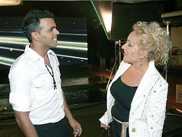עם ריקי גל בשנת 2006 (צילום: רפי דלויה)