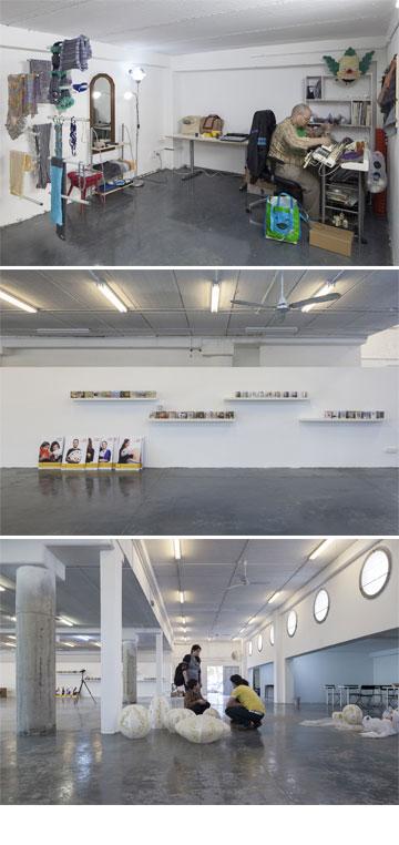 וכך הוא נראה מבפנים: חללי עבודה משותפים וסטודיו לכל אחד מ-11 המעצבים (צילום: אביעד בר נס)