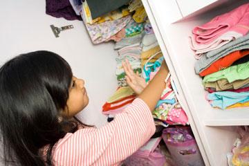 ארון של ילדים מחייב סידור קצת שונה (צילום: thinkstock)