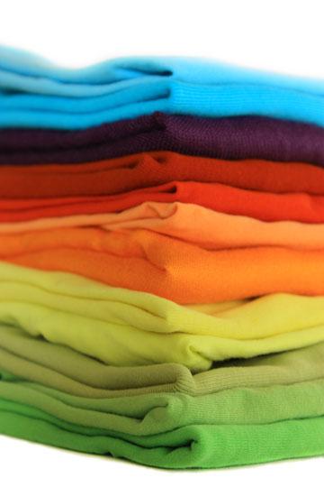 קיפול אחיד ולפי צבעים (צילום: thinkstock)