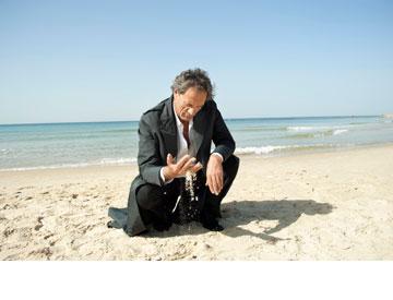 מוחמד בכרי בתמונה של מירי דוידוביץ'. נרטיבים מורכבים (צילום: מירי דוידוביץ מתוך תערוכת היחיד ''זרמים תת קרקעיים'')