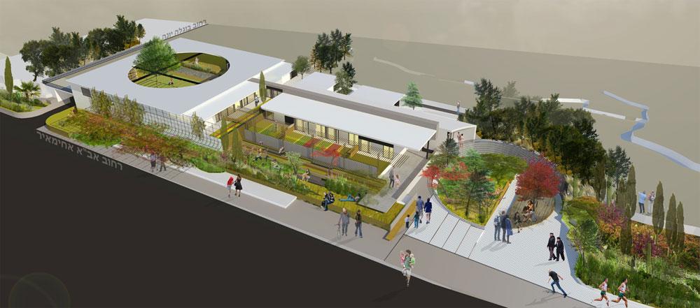 DE. 2architects  מציעים שני מעגלים שהם שי כיכרות - ציבורית ופנימית - תוך מאמץ לשמור על הפרטיות של הדיירים ויצירת ריאה ירוקה חדשה בעיר (הדמיה: De.2 architects)