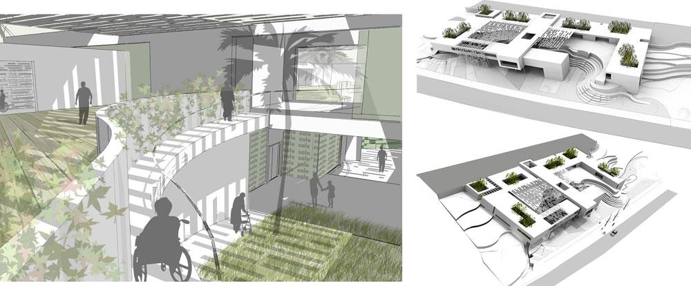 ההצעה של קפלינסקי אדריכלים זכתה אף היא לציון לשבח.  (הדמיה: קפלינסקי אדריכלים)