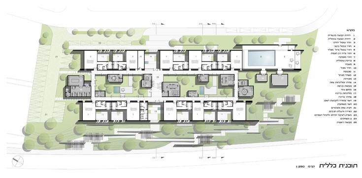 ההצעה של אנדרמן אדריכלים בשיתוף דני רוזן (שרטוט:  אנדרמן אדריכלים ואדריכל דני רוזן  )