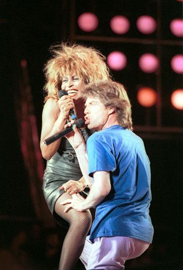 טינה טרנר ומיק ג'אגר, 1986 (צילום: gettyimages)