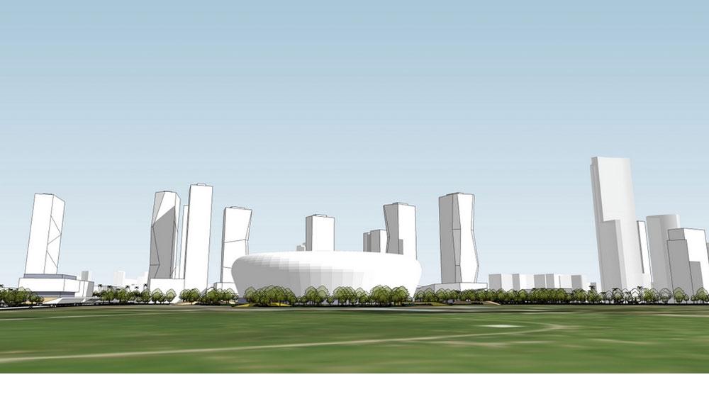 כך זה עשוי להיראות. 4 משרדי האדריכלים, שנחשפים בכתבה, מתמודדים על תכנון אצטדיון חדש. כדי לממן את הקמתו היקרה - משנים את ייעודי האזור ומצמיחים עליו גורדי שחקים