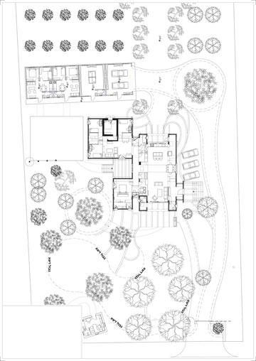 תוכנית הגינה (שרטוט: אדריכל עדו דרוקר)