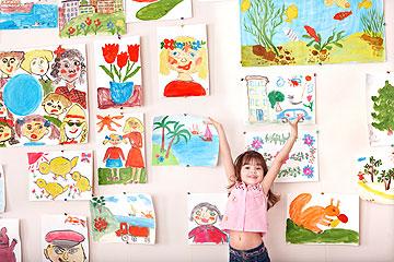 את הציורים והעבודות מהגן מרכזים בתוך קופסה יפה (צילום: thinkstock)