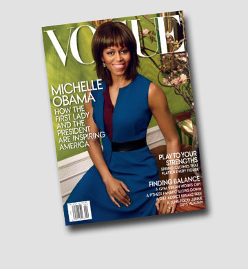 פעם שנייה על ווג: מישל אובמה על שער גיליון אפריל 2013 של המגזין