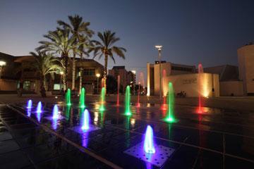 מזרקה ושמה באר שבע. בכיכר הקונסרבטוריון (צילום: דוברות עיריית באר שבע)
