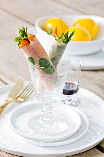 רול קליפורני במלית ירקות וטופו  (צילום: דני לרנר)
