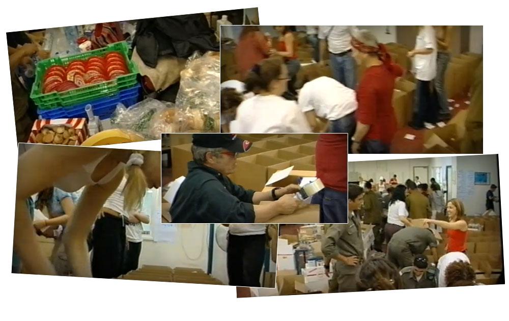 פעילות מתנדבי העמותה. במרכז: שלמה ארצי מרווה את הצימאון