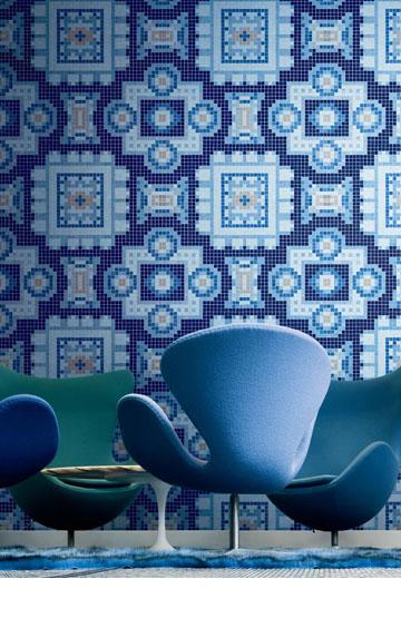 פסיפס כחולים, מבית ביזאצה (באדיבות HeziBank)
