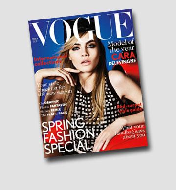 """עולם האופנה בהיסטריה. קארה על שער מגזין """"Vogue"""""""