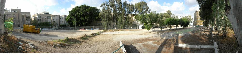 כך זה נראה לפני השיפוץ: הצבא פינה את המגרש, ובעל החניון התכוון להפוך אותו לפרויקט נדל''ן. לא מדובר בשטח גדול (13 דונם), אך התוצאה מוכיחה עד כמה ההישג משמעותי (צילום: רם איזנברג)