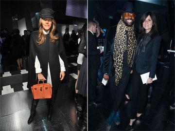 בשורה הראשונה: עורכות האופנה עמנואל אלט ואנה דלו רוסו (צילום: הנס מוריס )