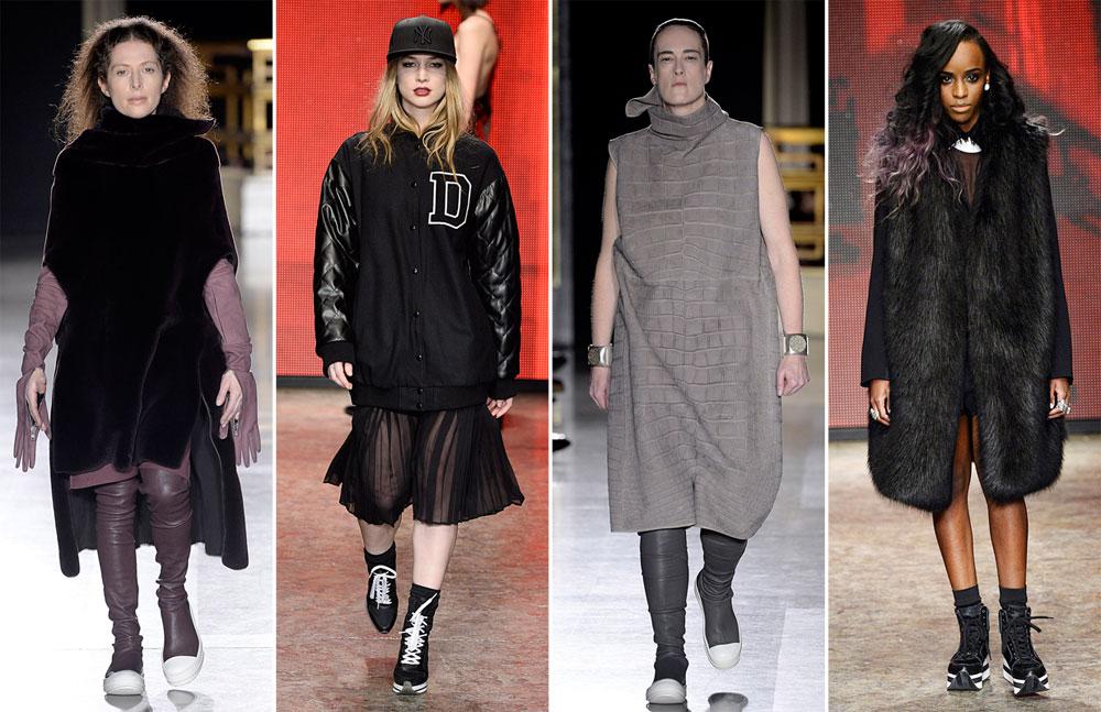 תצוגות האופנה של DKNY וריק אוונס. דוגמניות זה פאסה (צילום: gettyimages)