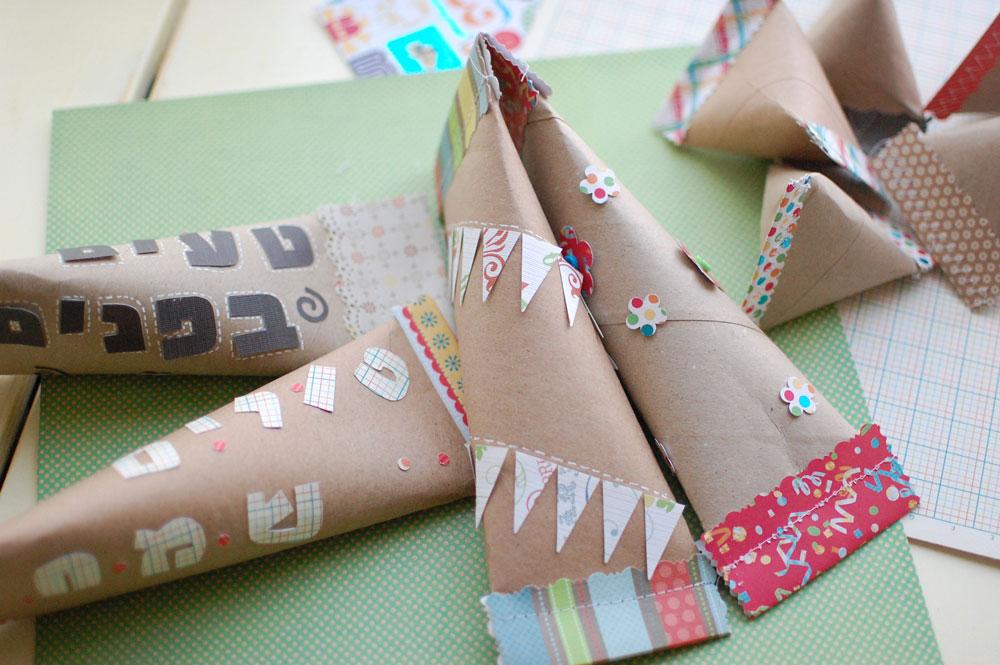 משלוח מנות מגלילי נייר טואלט תפורים (צילום: גלי כץ, תפור עליי)