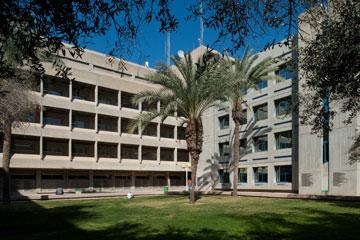 בניין מדעים מדויקים והנדסה בקמפוס בן גוריון, ב''ש (צילום: עמרי אמסלם )