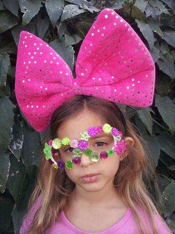 משקפיים מקושטים. לילדים שלא אוהבים להתחפש (צילום: ענבל עופר)