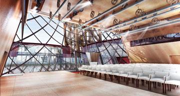 """כך ייראה """"ביתן אייפל"""": מקומות ישיבה ל-215 איש (באדיבות Moatti-Rivière architectes)"""